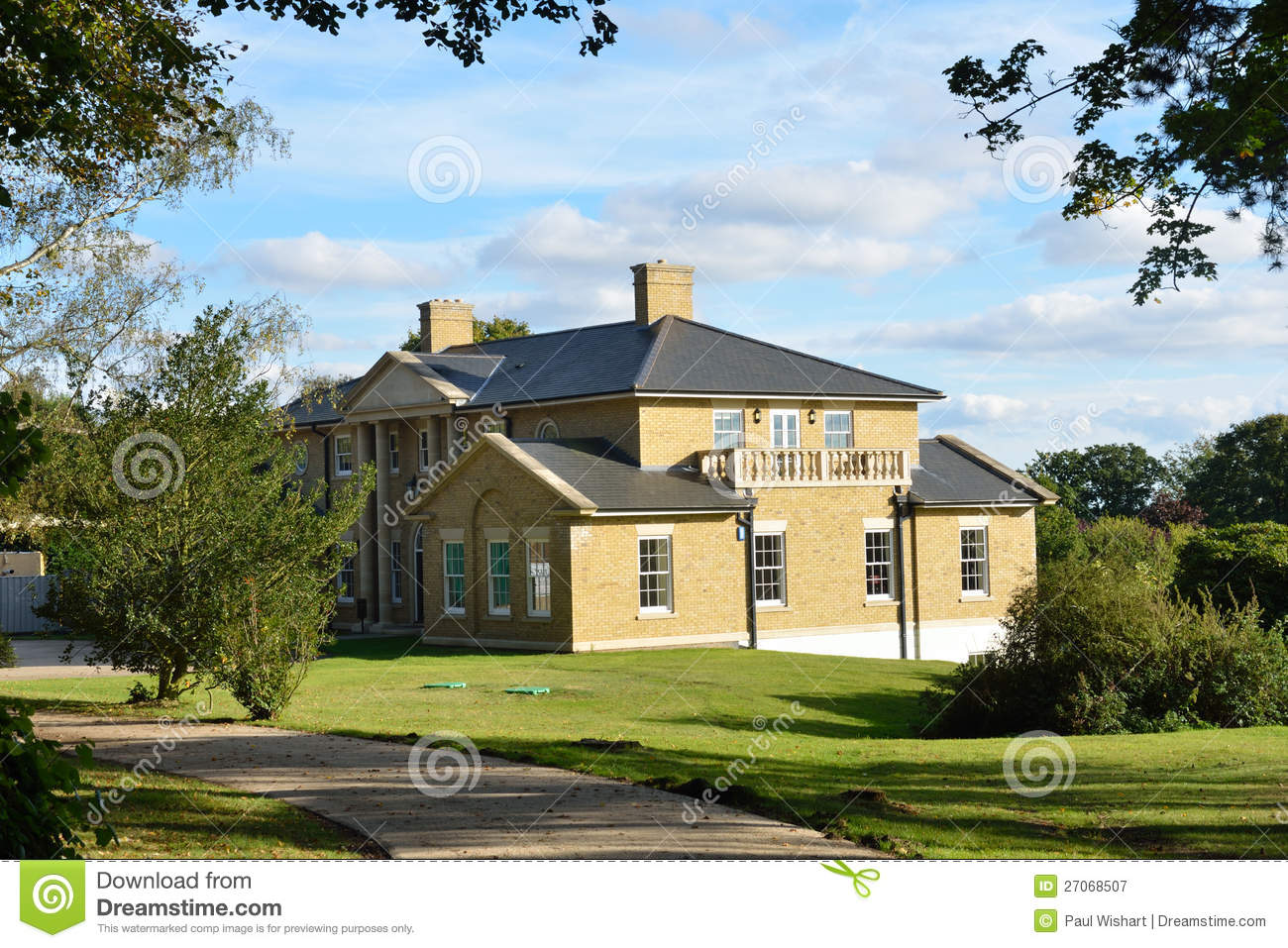 Large Modern House Royalty Free Stock Photography Image