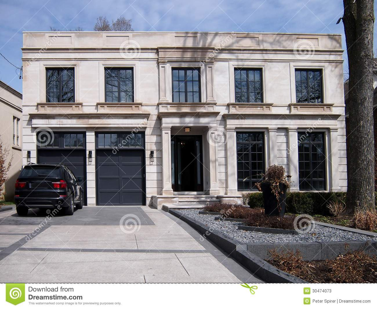 Large Modern House And Driveway Stock Photos Image 30474073