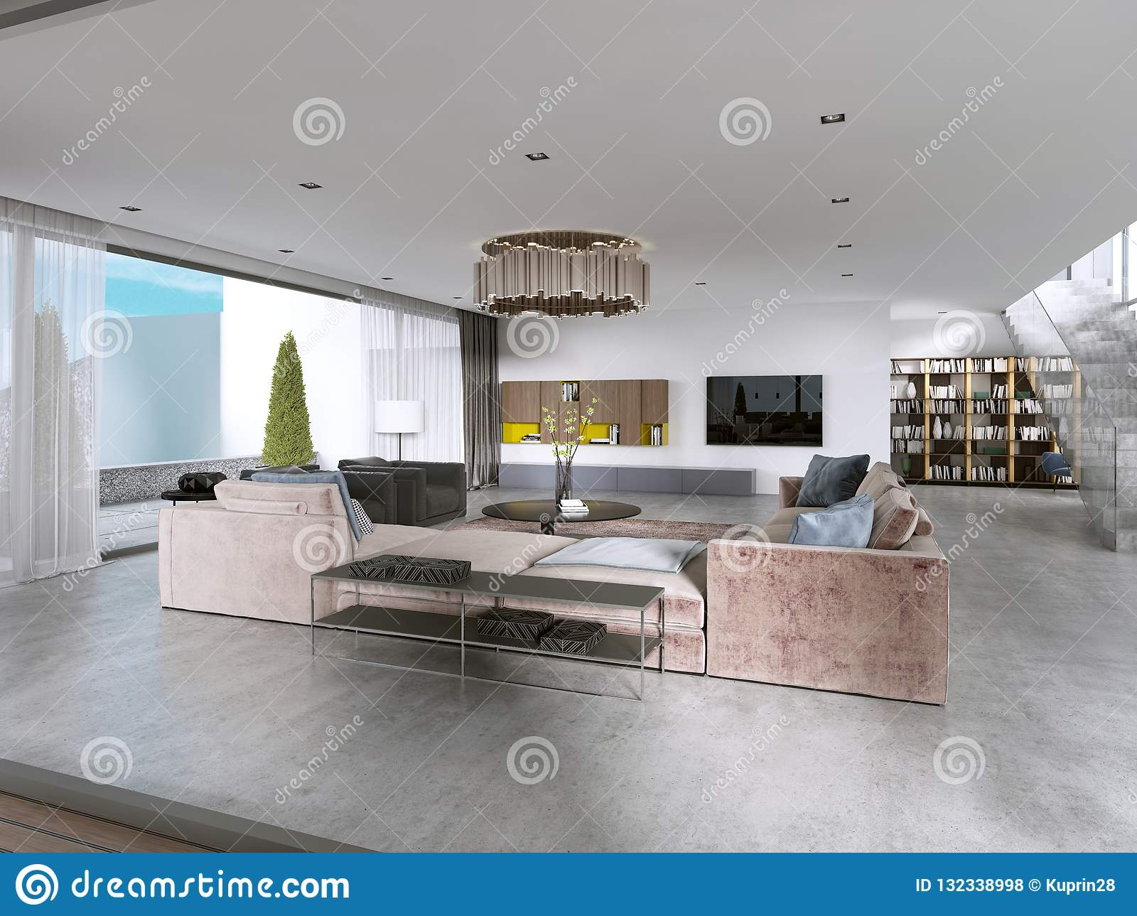 modern big living room