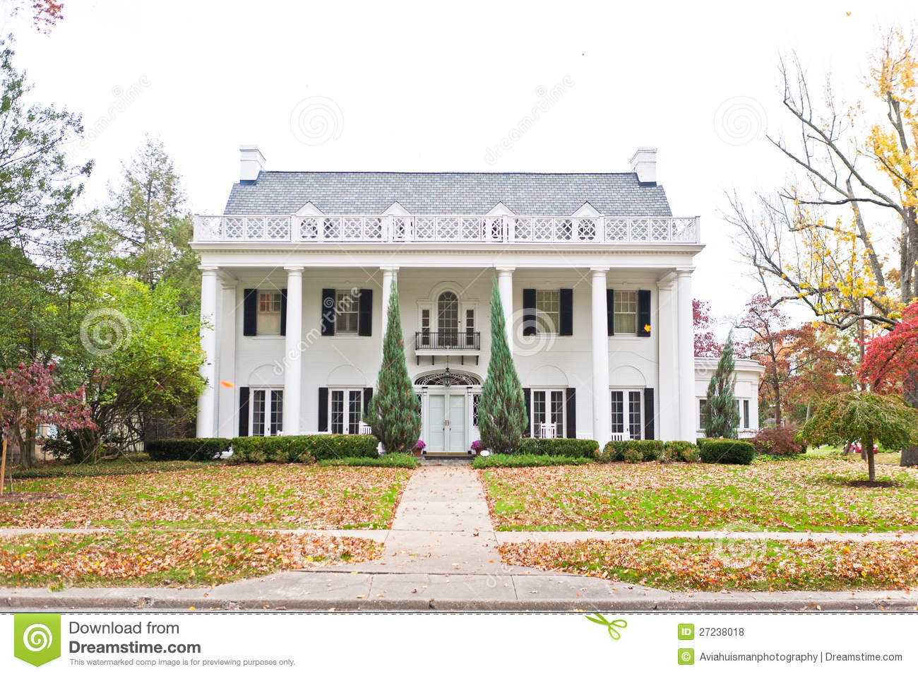 Large neo classic style home royalty free stock photos for Classic architecture homes