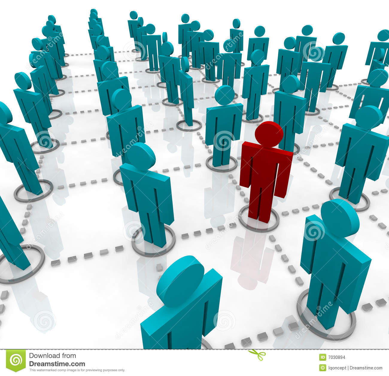 Large Network of People