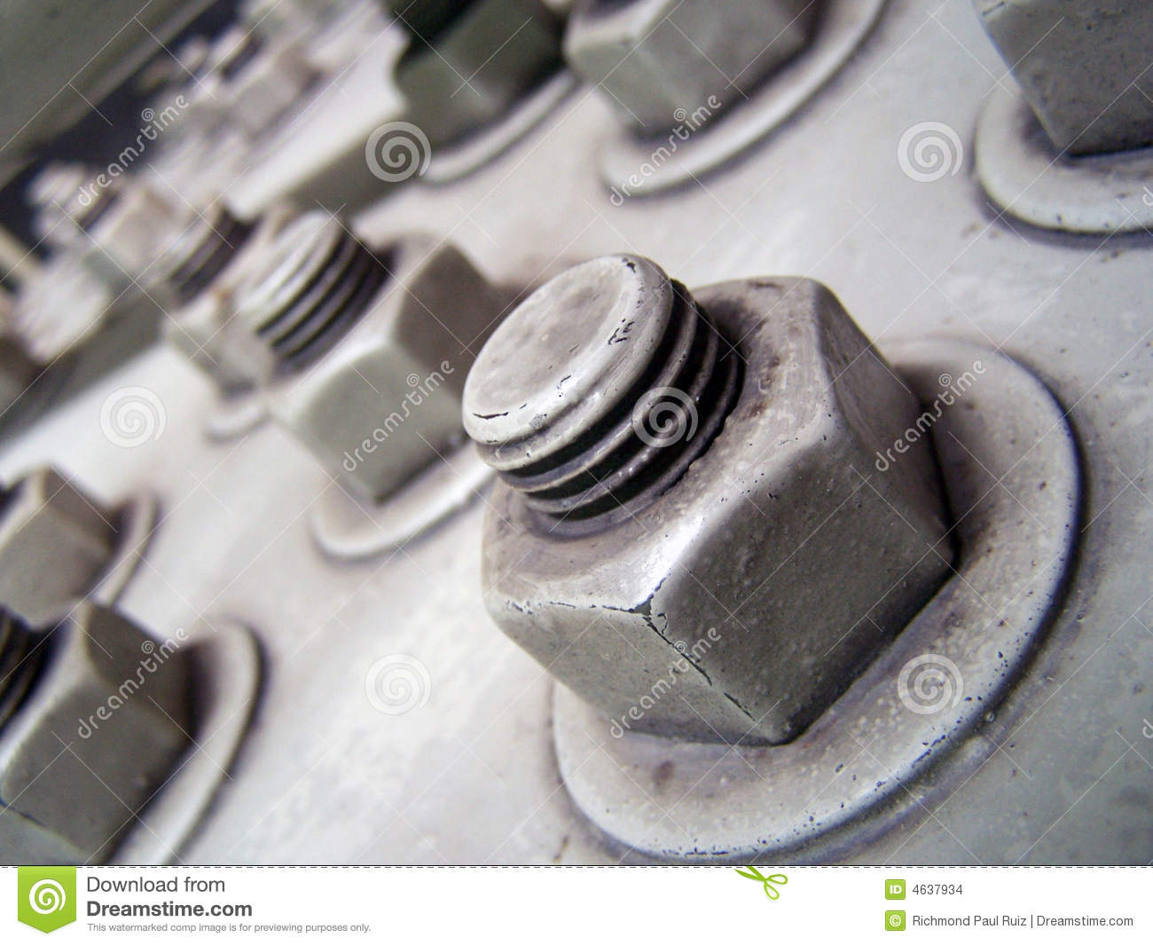 Large Nuts and Bolts stock photo  Image of construction - 4637934