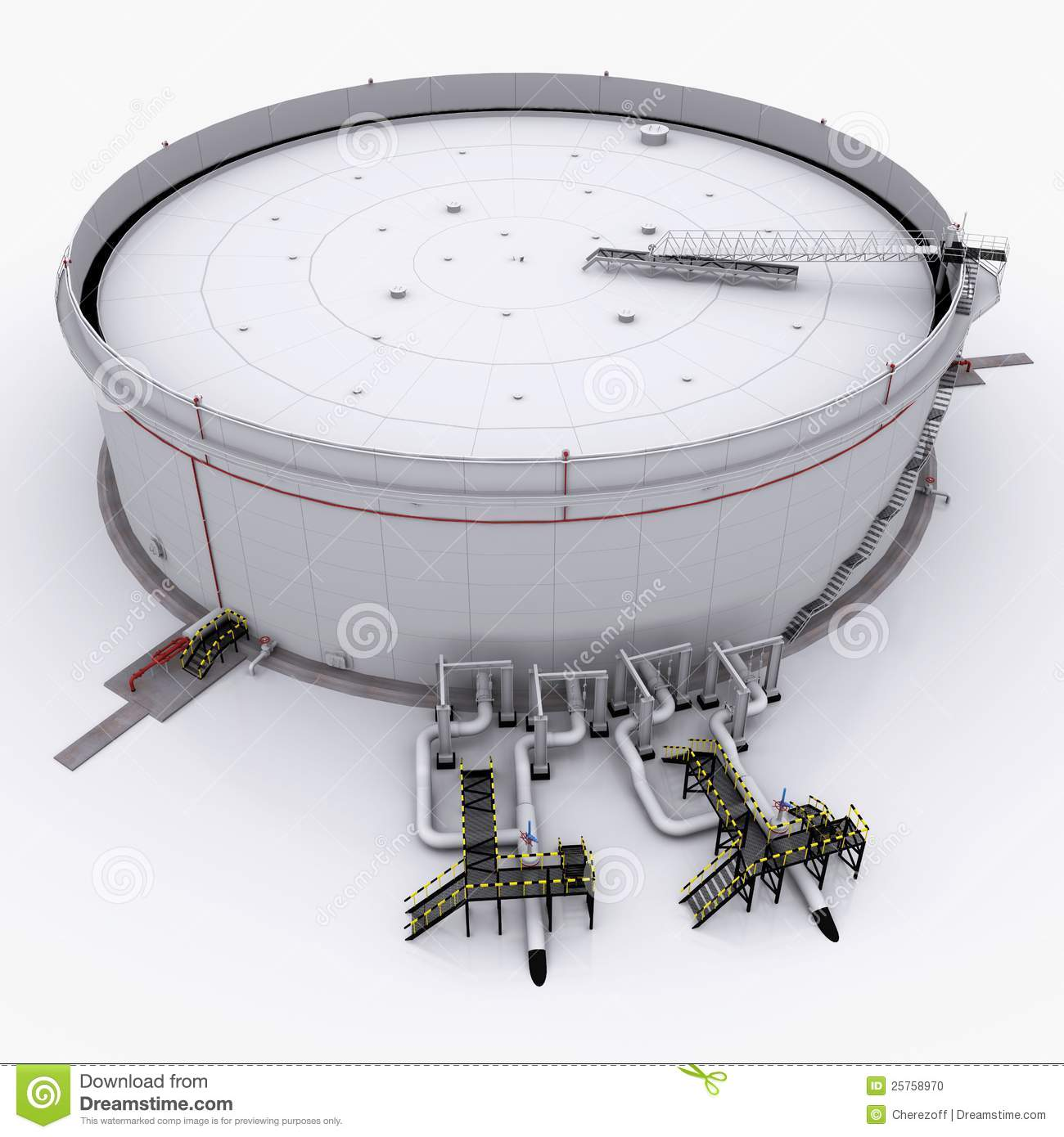 Large Oil Tank With Floating Roof Stock Photo Image