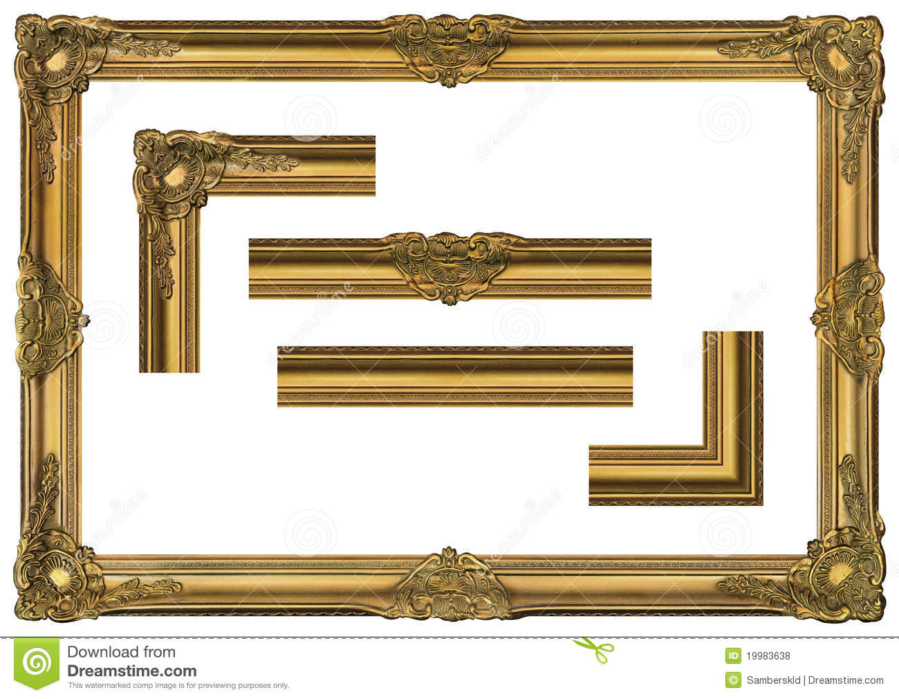 large old gold frame 001