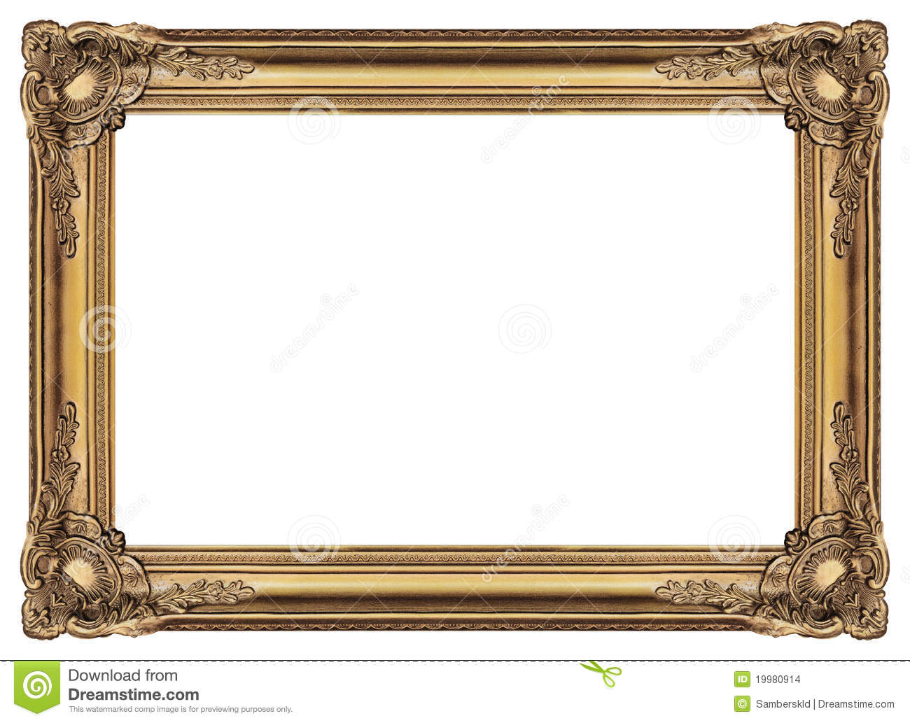 Large Old Gold Frame 003 Stock Photo Image Of Included