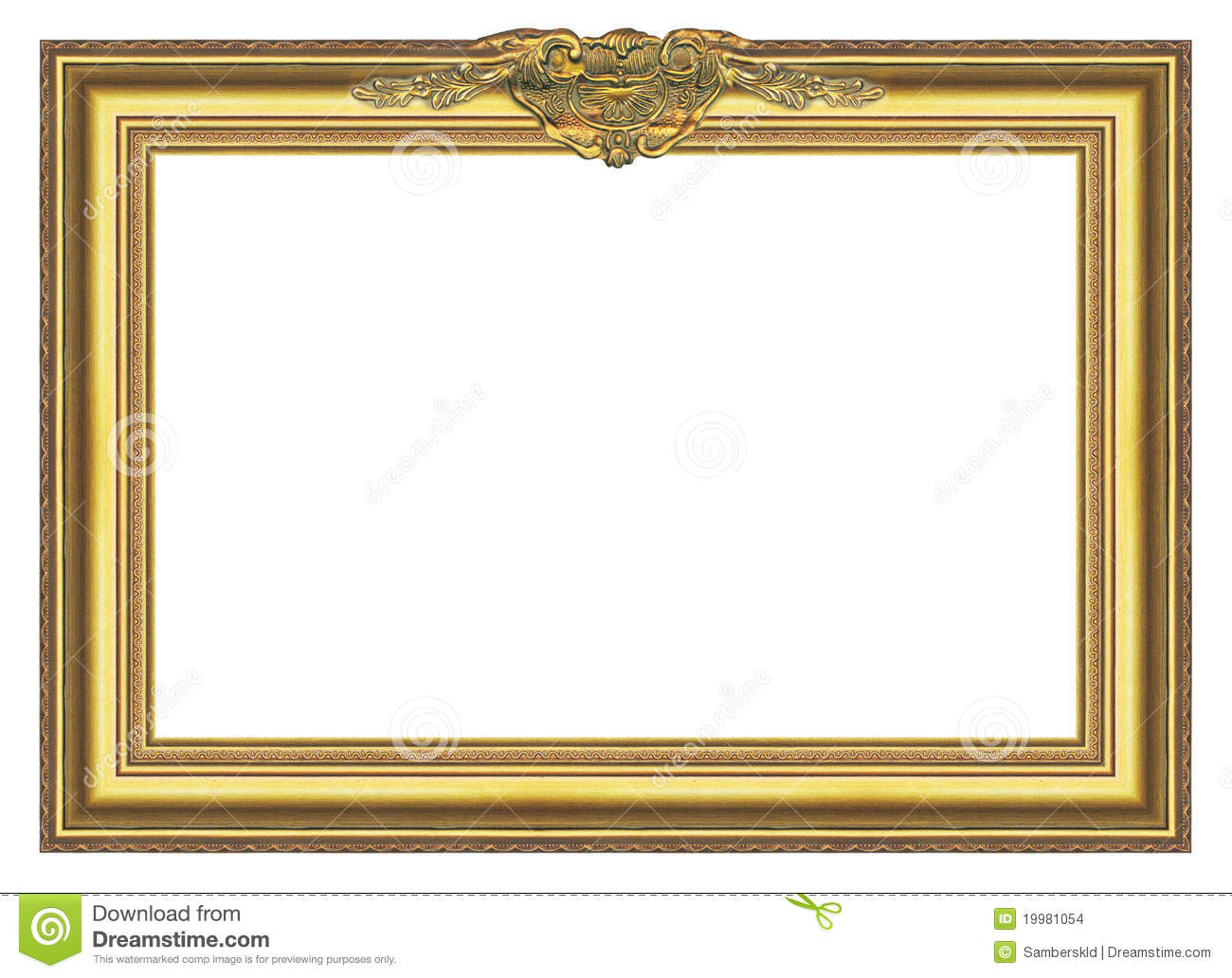 large old gold frame 004