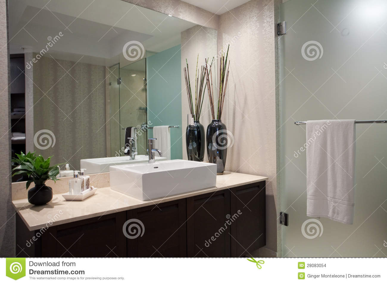 Large Open Bathroom Stock Photo Image Of Large Remodeled