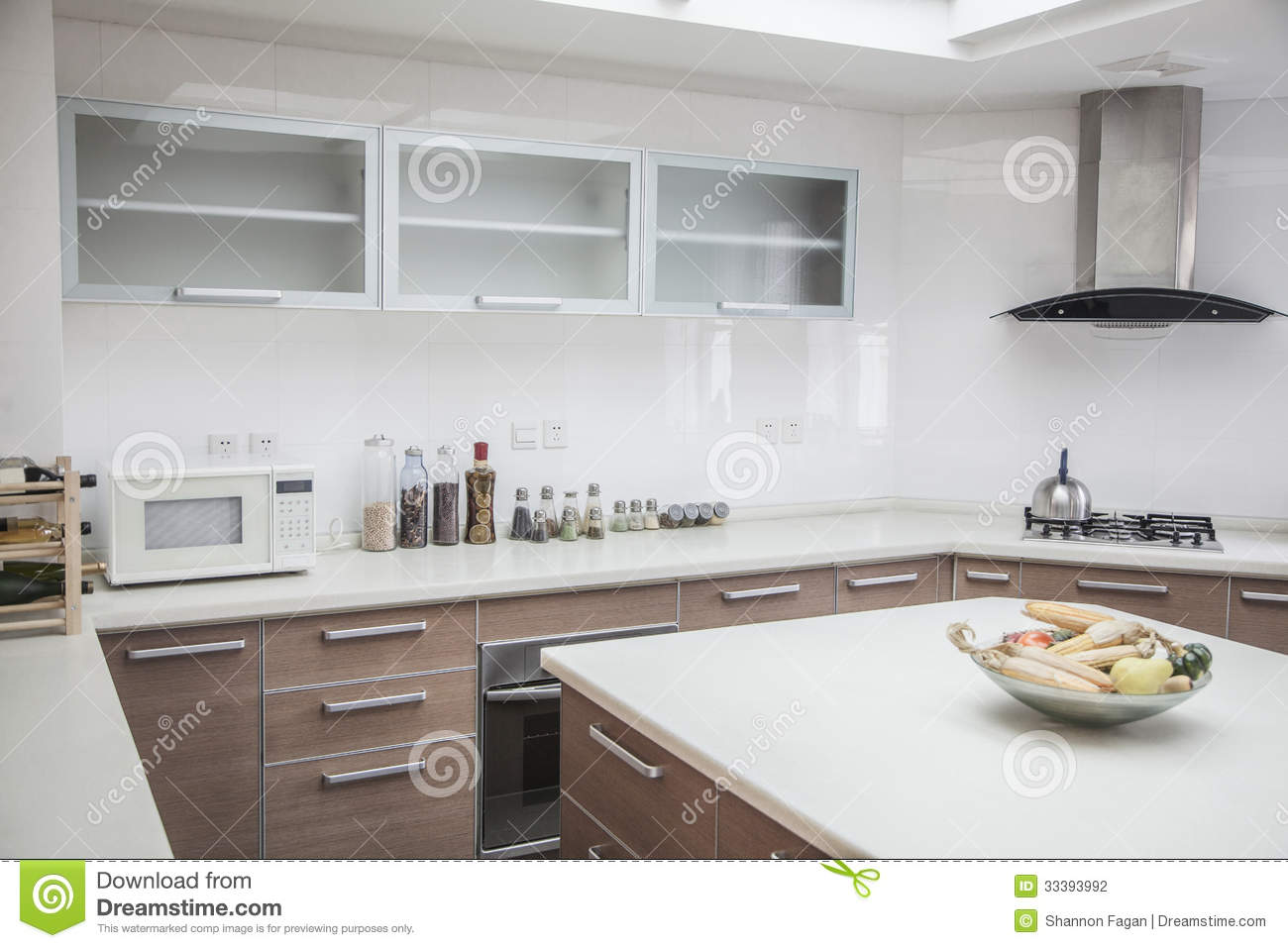 Large modern kitchen. large open modern kitchen stock photography ...