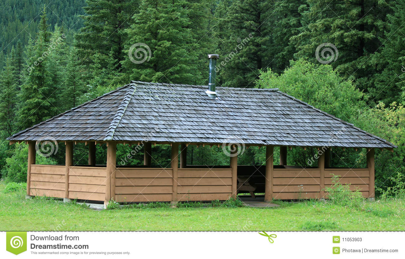Large Picnic Shelter Plans : Large outdoor picnic shelter stock image of