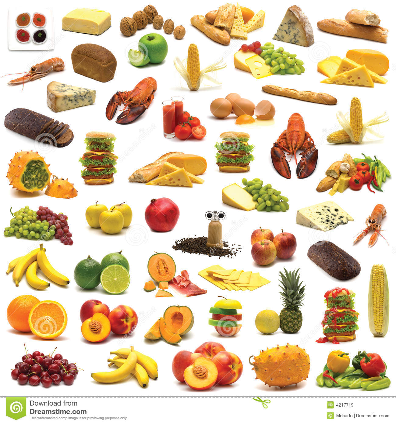 Large Page Of Food Assortment Royalty Free Stock Images - Image ...