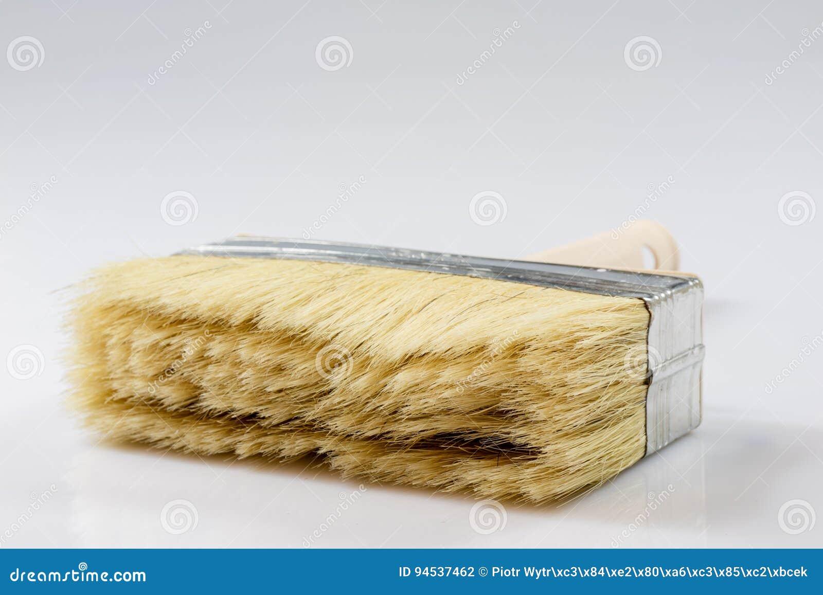 Large Paint Brush For Painting Walls, White Background Stock Photo ...