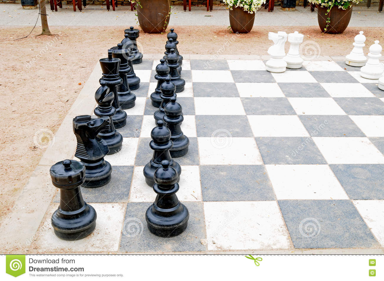Large Patio Chess Set