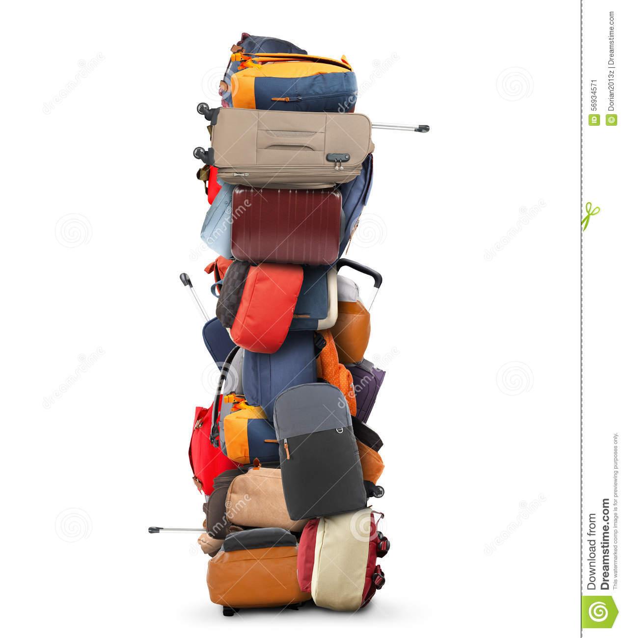 Large pile of bags stock image. Image of vacation ...