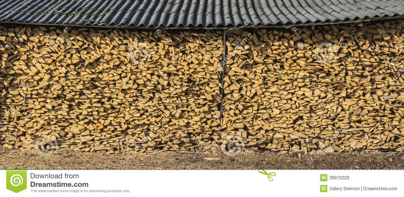 A Large Pile Of Firewood Shed Stock Photo Image 39970229