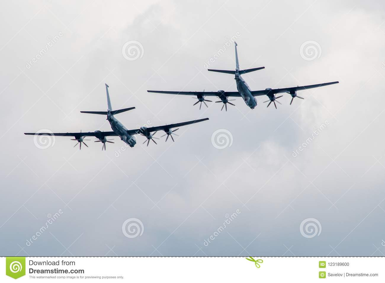 Large planes fly away