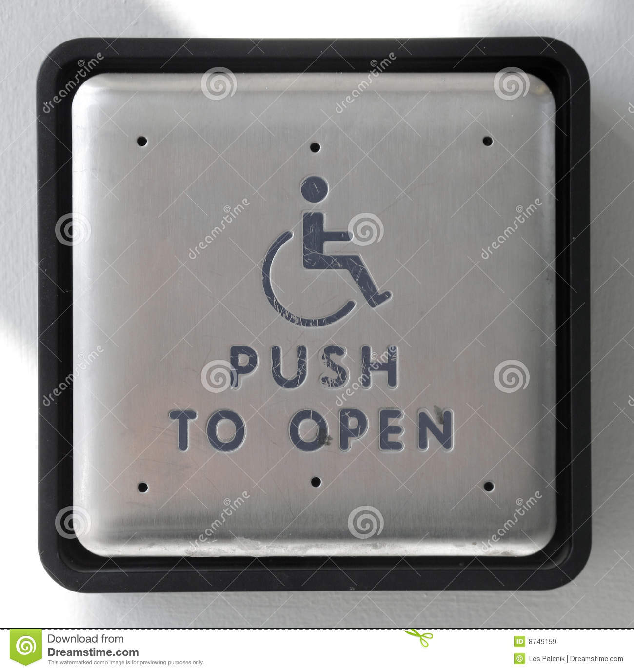 Large Push Button To Open Door Royalty Free Stock Images
