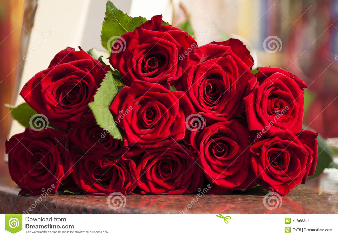 Large Red Rose Bouquet Stock Image Image Of Nature
