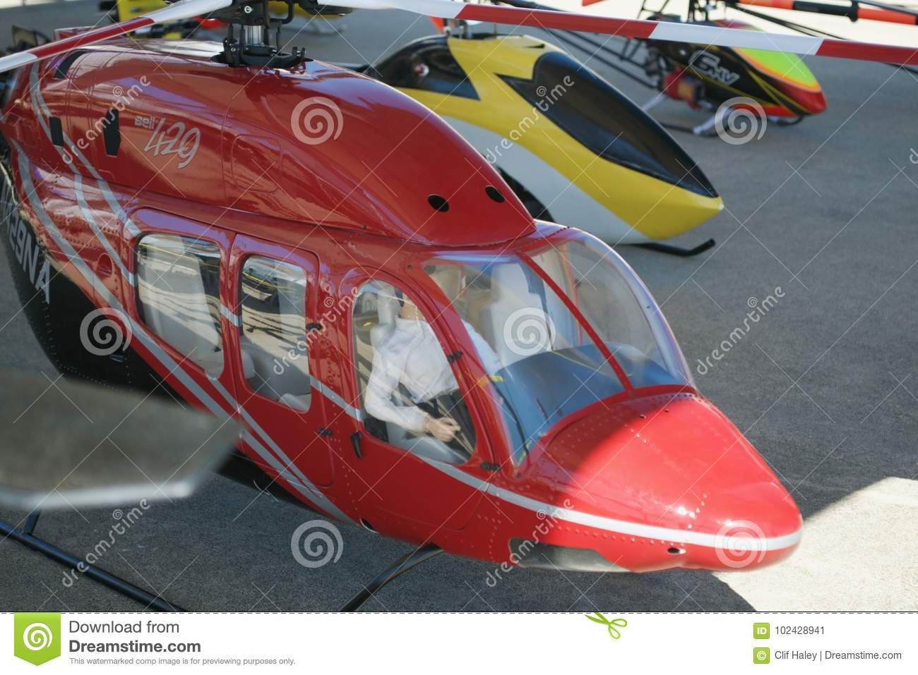 Large Remote Control Helicopters At Air Show Stock Image - Image of