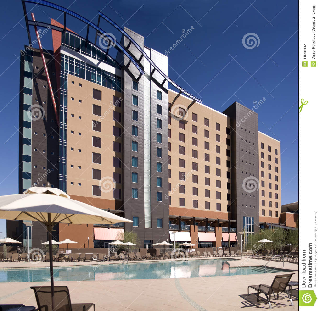 Large resort casino hotel building in phoenix stock for Hotel building design