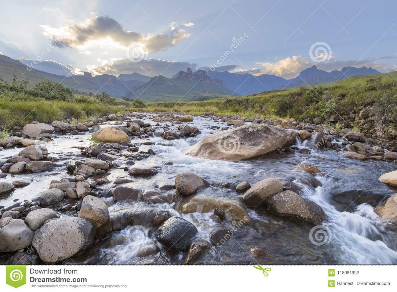 Large rocks in the river
