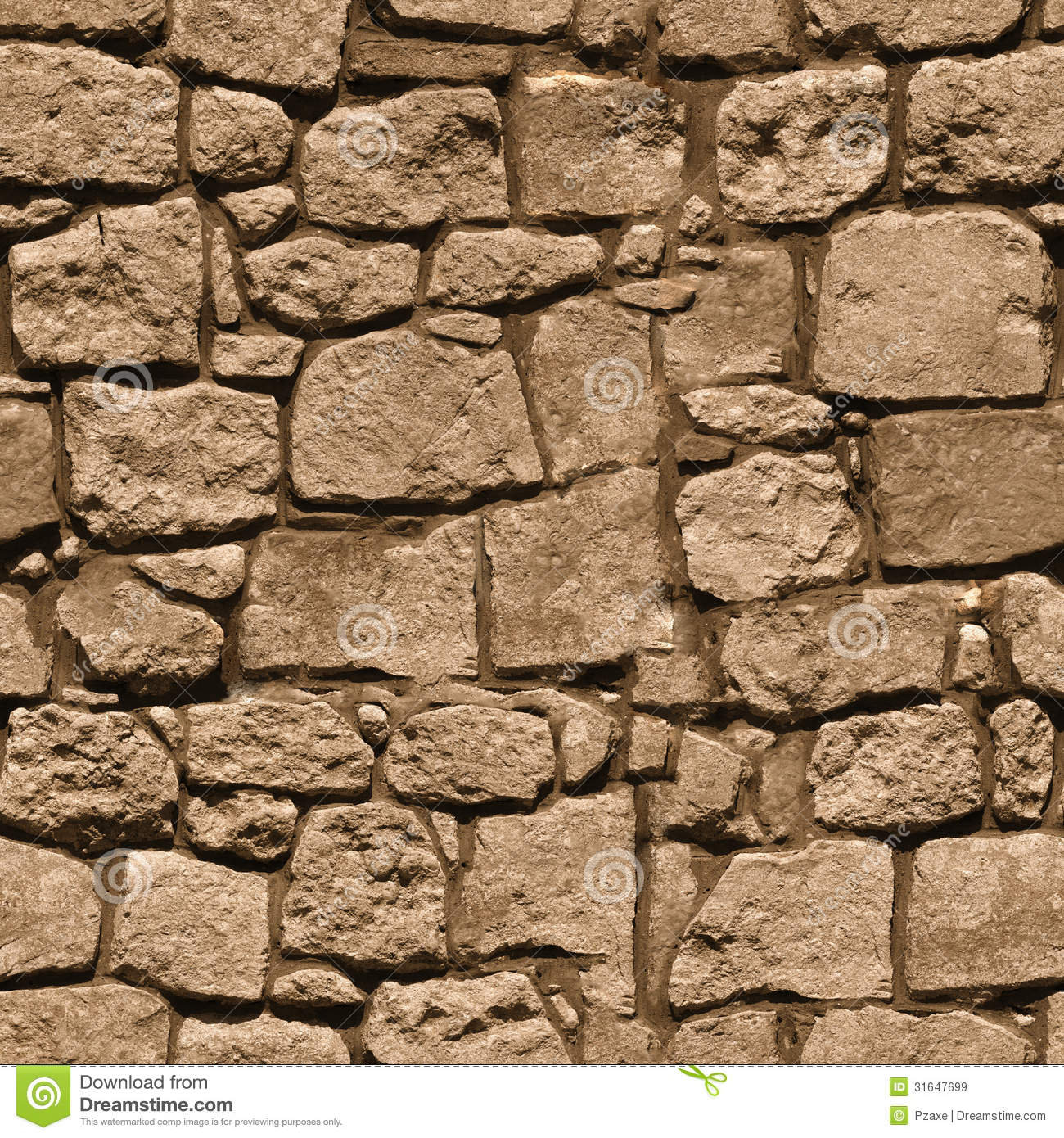 Large Rough Natural Stone Wall - Seamless Texture For Design Royalty Free Stock Images - Image ...