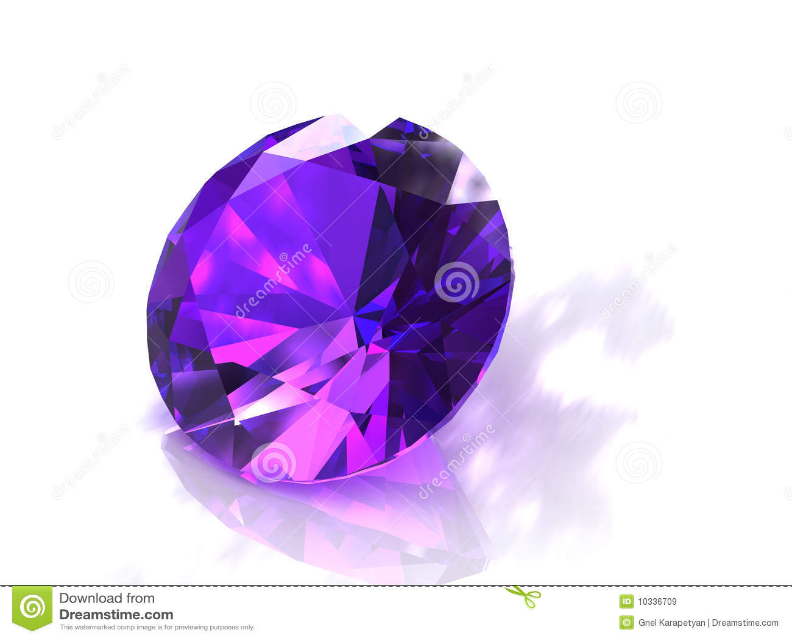 Large Round Purple Amethyst Gemstone Royalty Free Stock