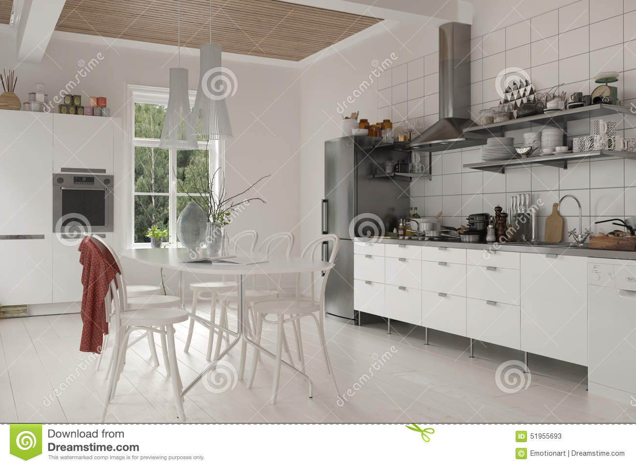 Large rustic kitchen with table and chairs
