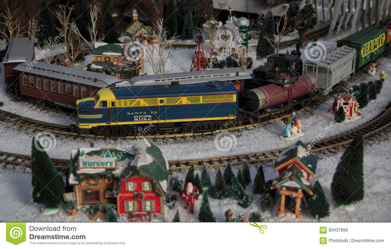 Large-Scale Model Railroad Train Garden Editorial Photo - Image of