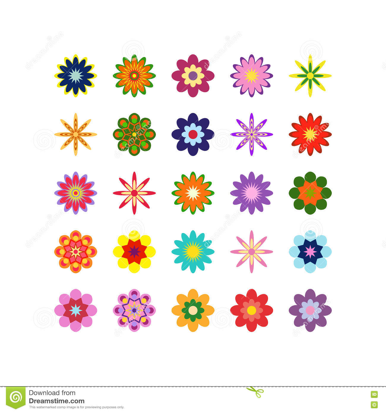 Large set of different flowers of different colors on for What makes flowers different colors