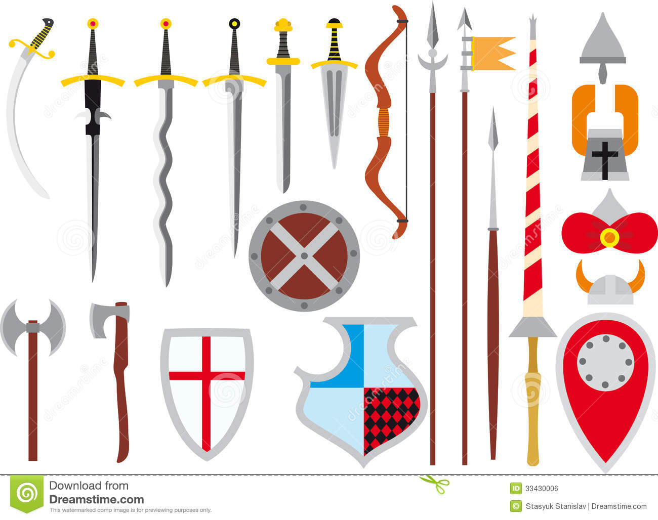 Large Set Of Medieval Weapons Royalty Free Stock Image - Image ...