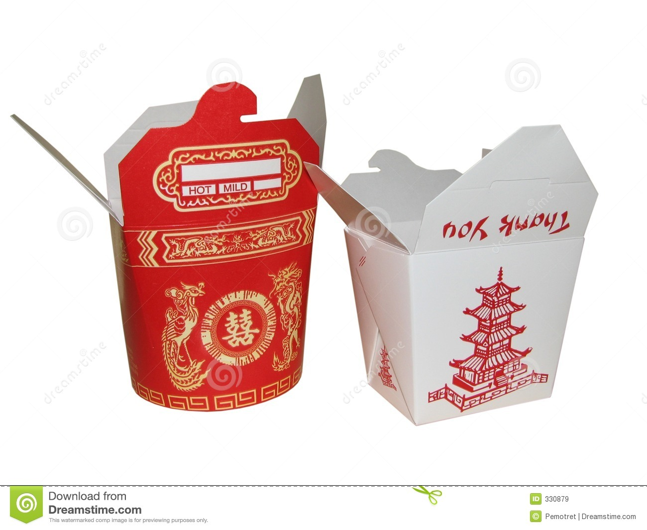 Large and Small Chinese To Go Box  sc 1 st  Dreamstime.com & Large And Small Chinese To Go Box Stock Image - Image: 330879 Aboutintivar.Com