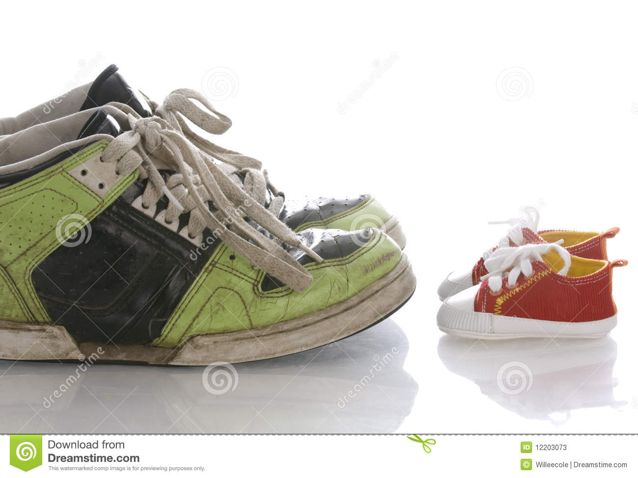 Large And Small Shoes Stock Image Image Of Sport Baby