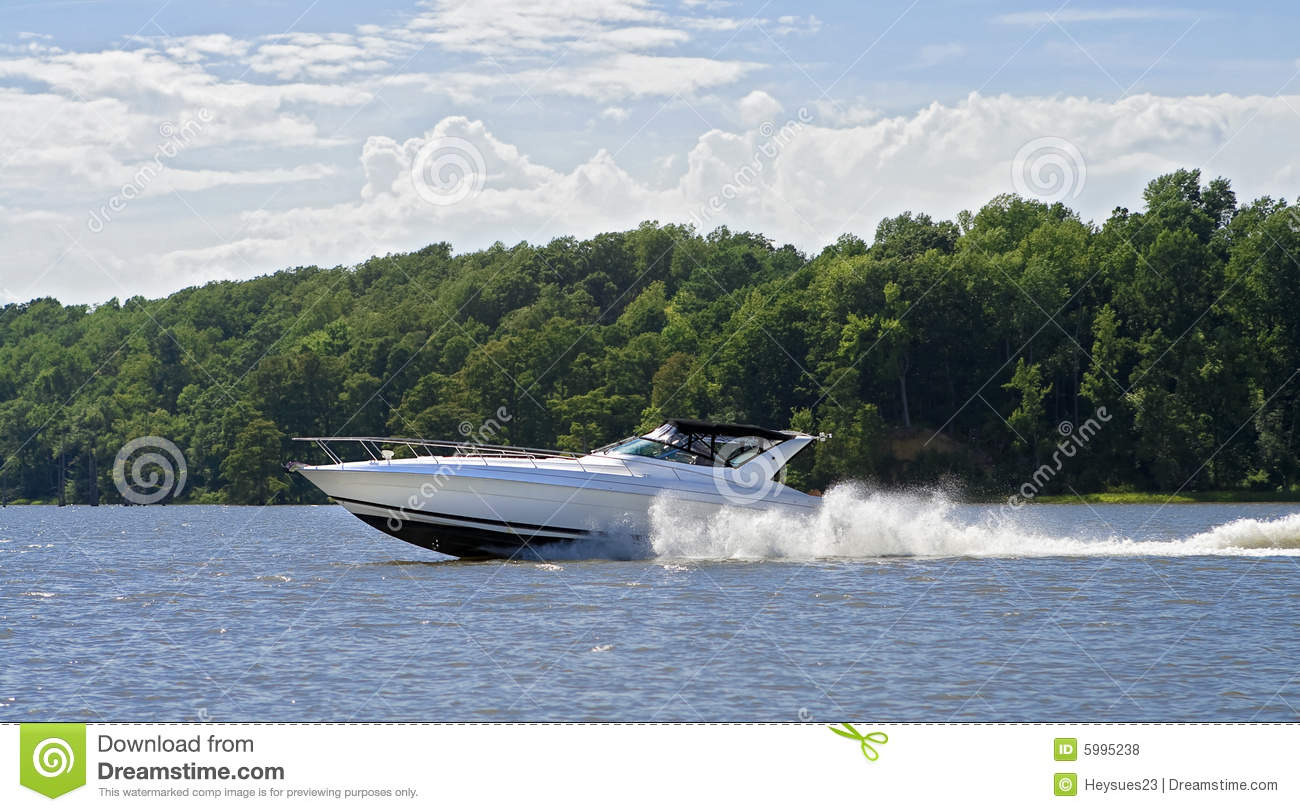 Large speed boat