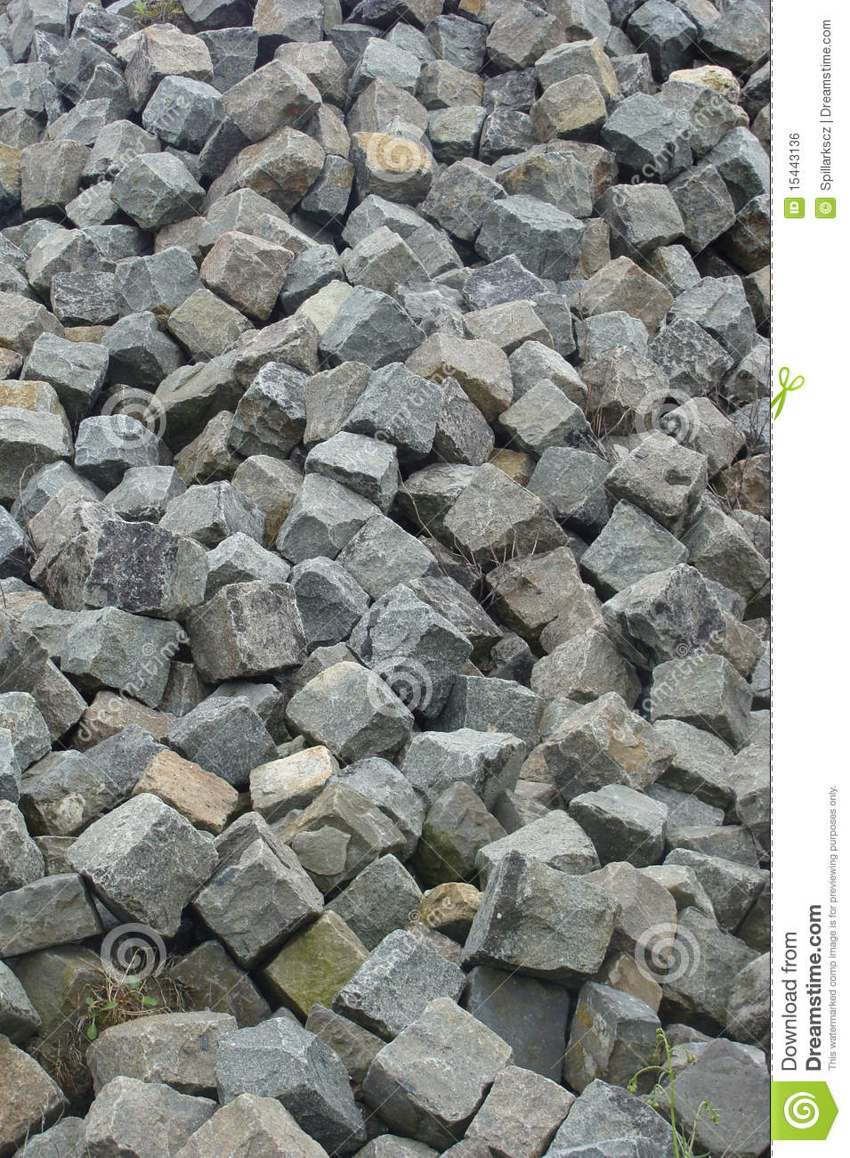 Large Stack Of Cobble Stone Stock Photo - Image of ...