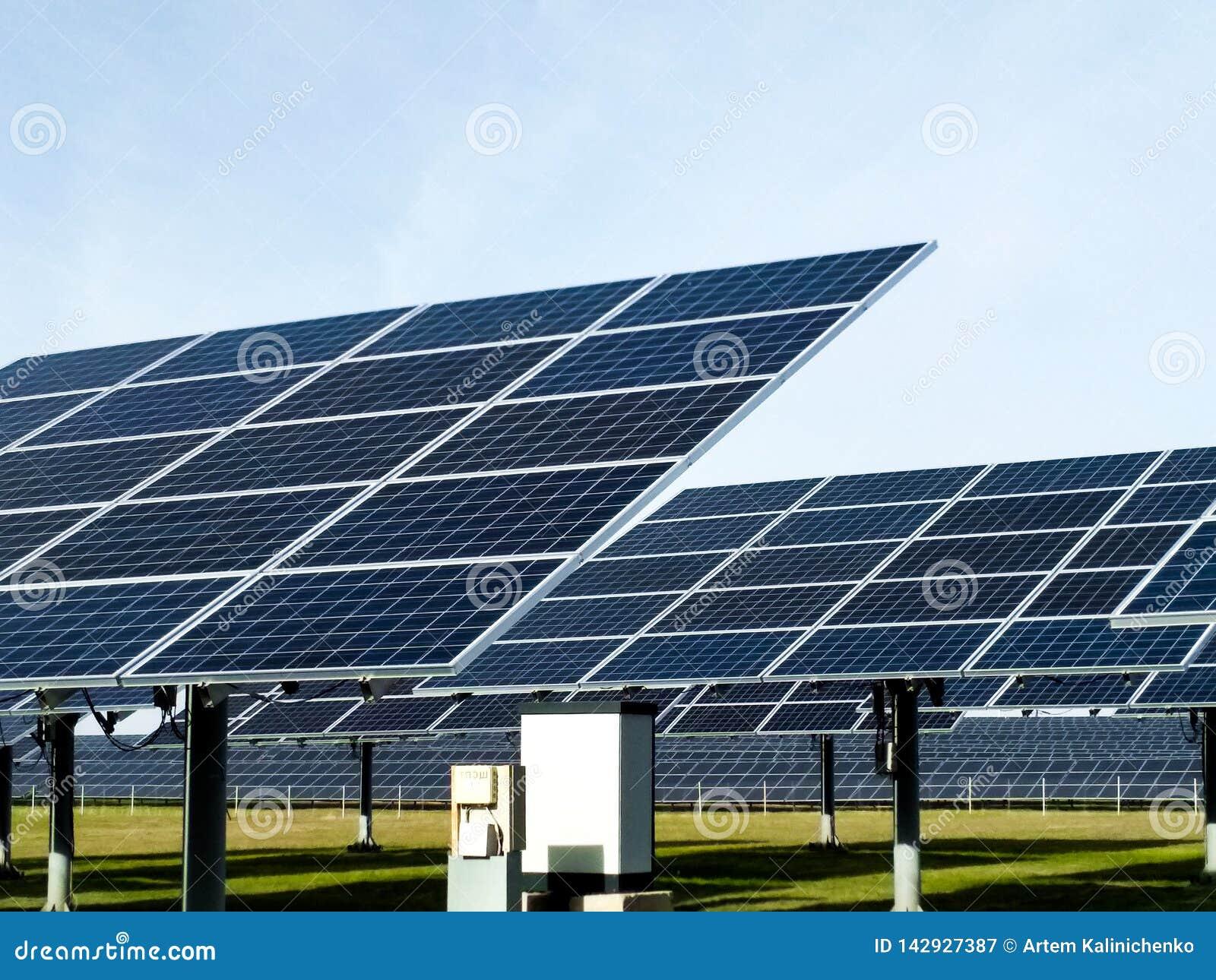 Big solar station on a clear day