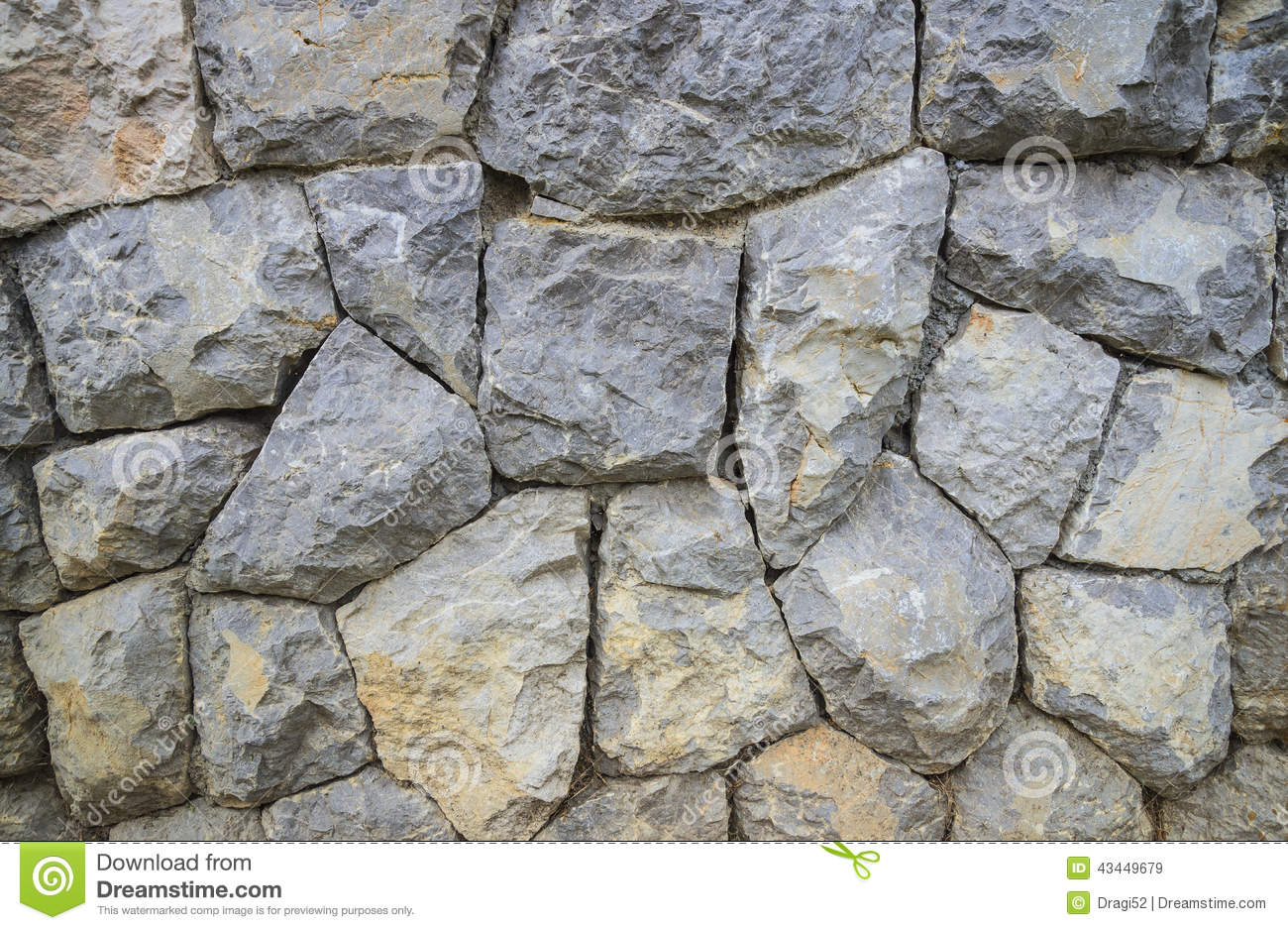 Large White Granite Rock : Large stone wall texture and background stock photo