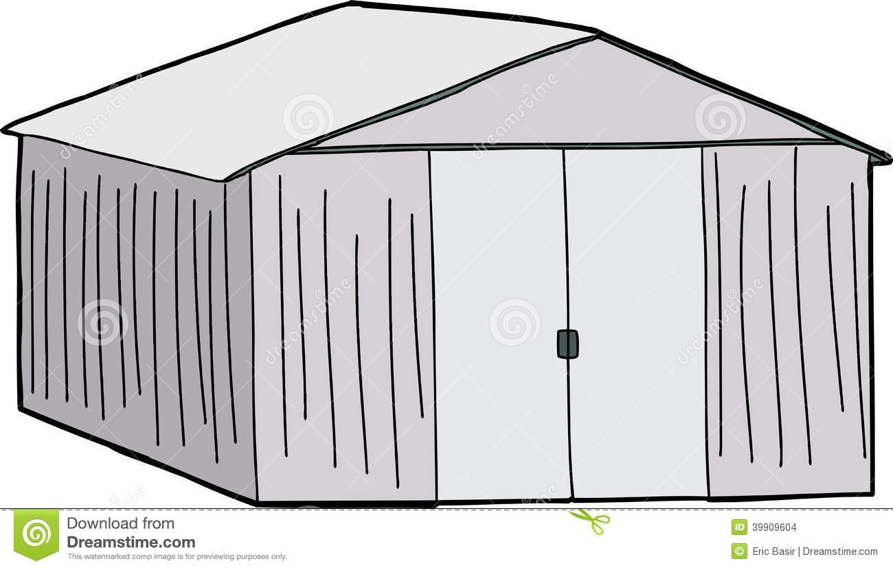 Large Storage Shed Stock Vector Illustration Of Structure