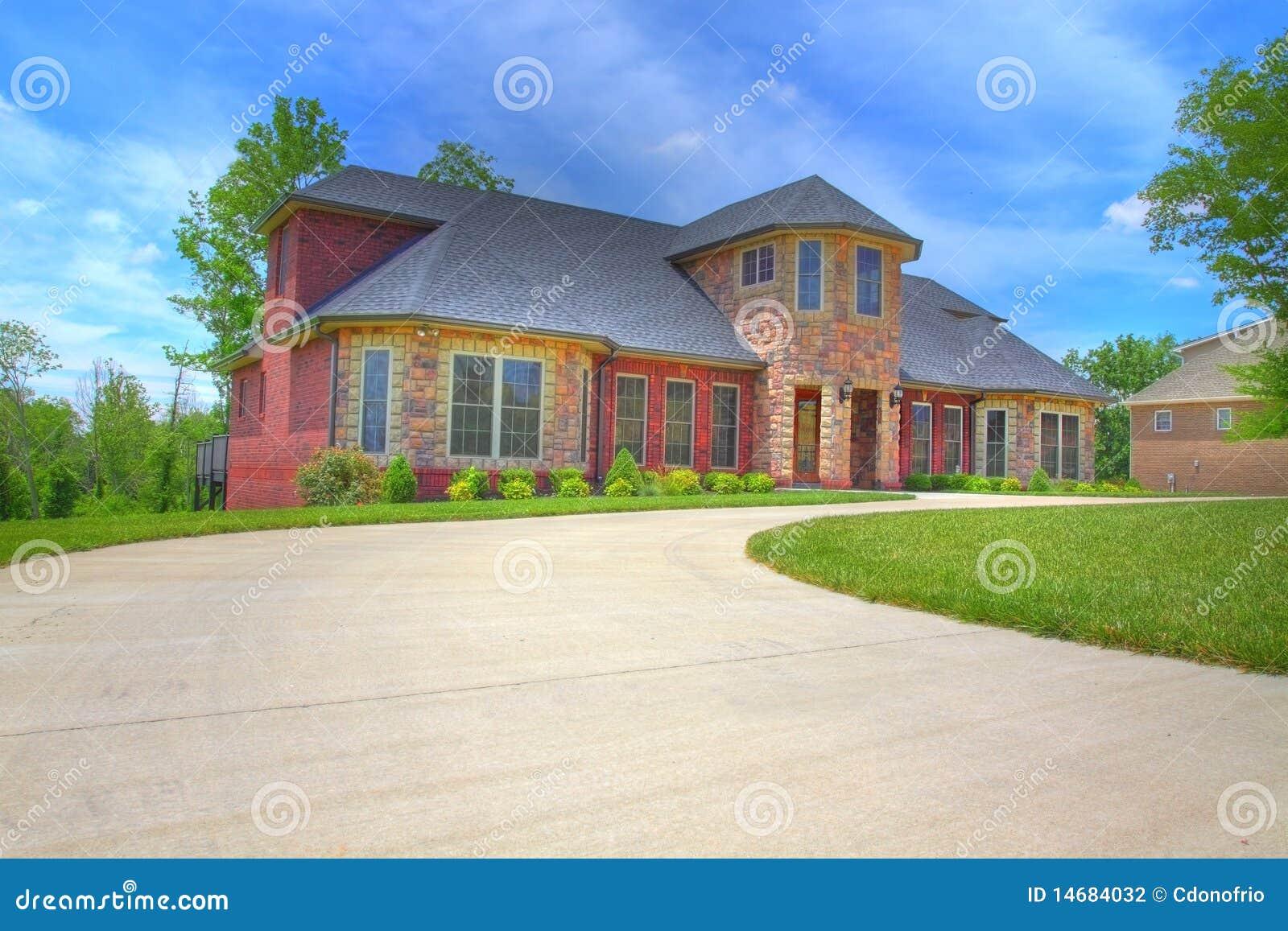 Large Suburban House Stock Photo Image Of Neighborhood