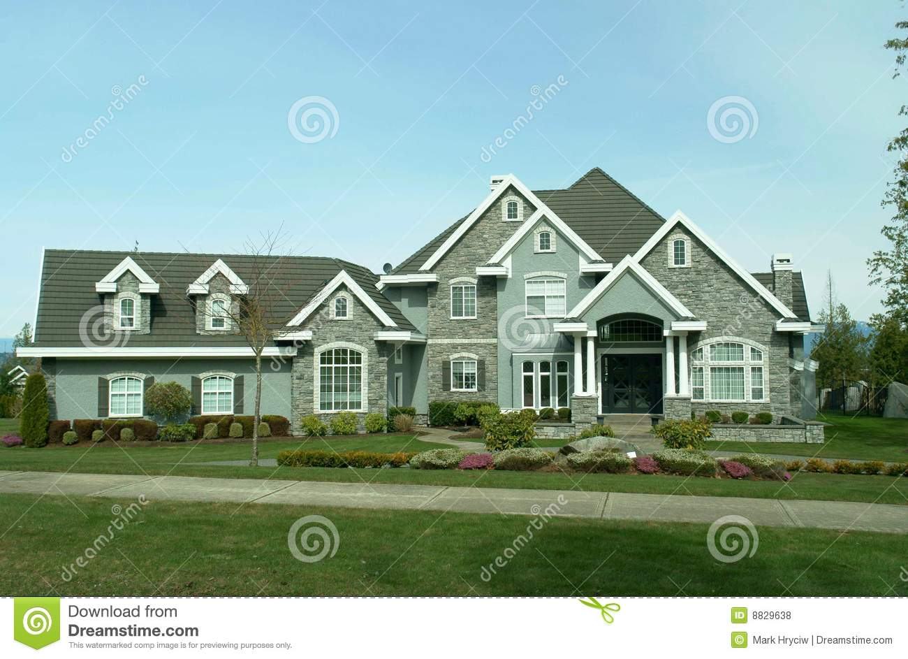 Large Suburban House Royalty Free Stock Photos Image