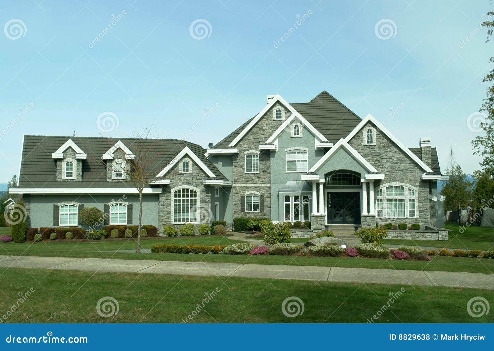 Large Suburban House Stock Photo Image Of Details