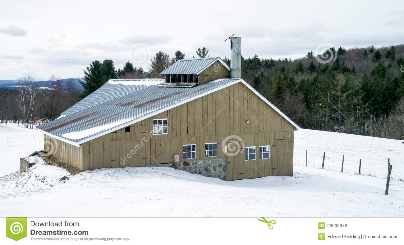 Vermont farm maple syrup building stock photo image of for Cost of building a house in vermont