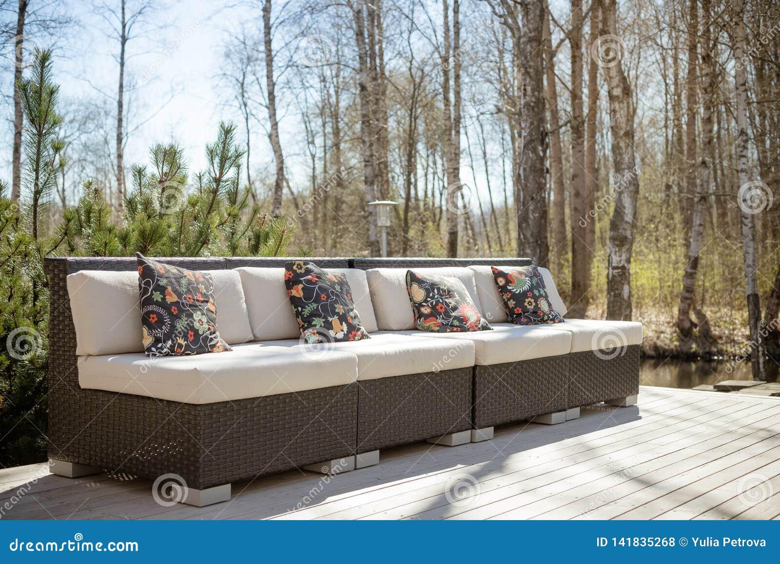 L Anfora Rattan Amphoren Lounge.Large Terrace Patio With Rattan Garden Furniture Set Wooden Garden