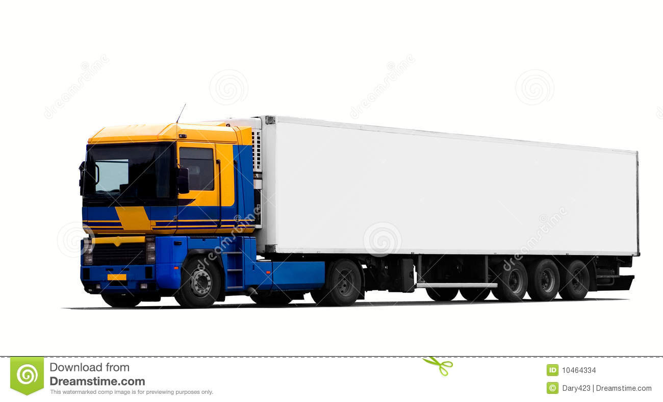 Tractor Trailer Stock : Large tractor trailer truck stock images image