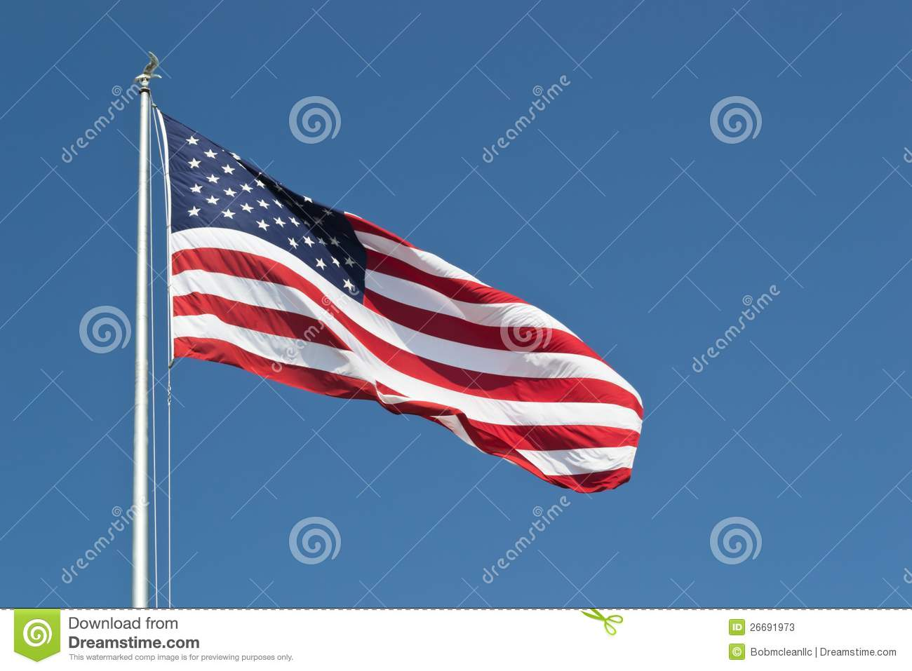 Download Large United States Flag Horizontal Stock Image - Image of flagpole, stars: 26691973