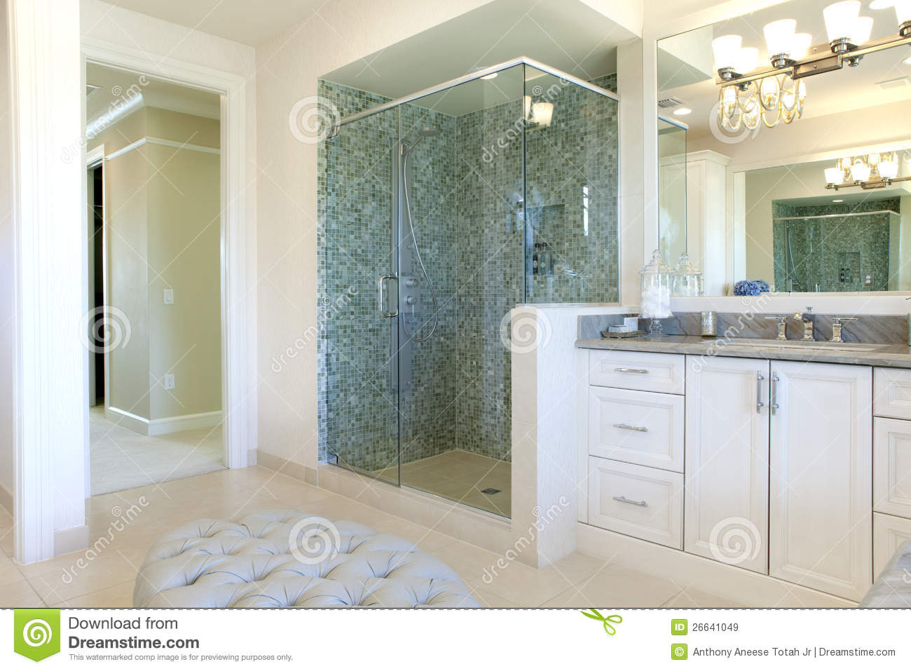 Large upscale master bathroom royalty free stock images for Large master bathroom
