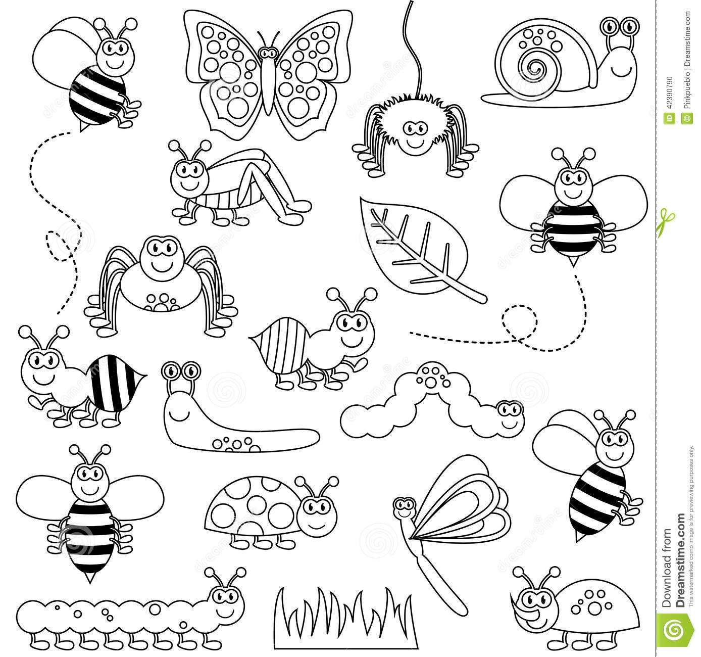 Cute insect drawing - photo#11