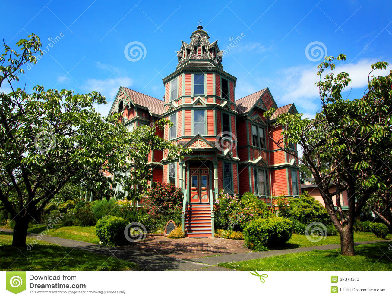 Large Victorian Mansion Stock Photo Image 32073500