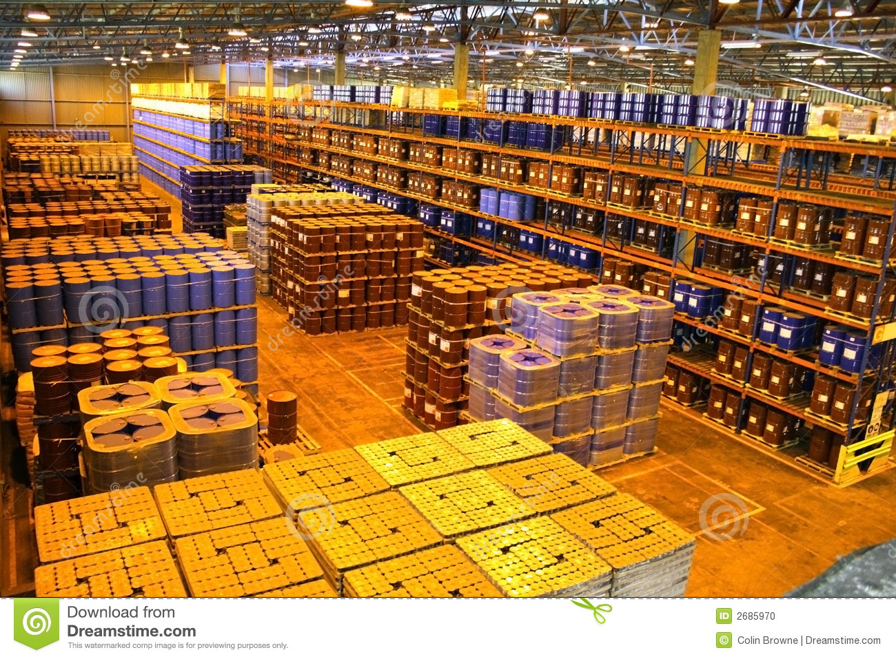 Warehouse Interior Large warehouse interior stock photo - image ...