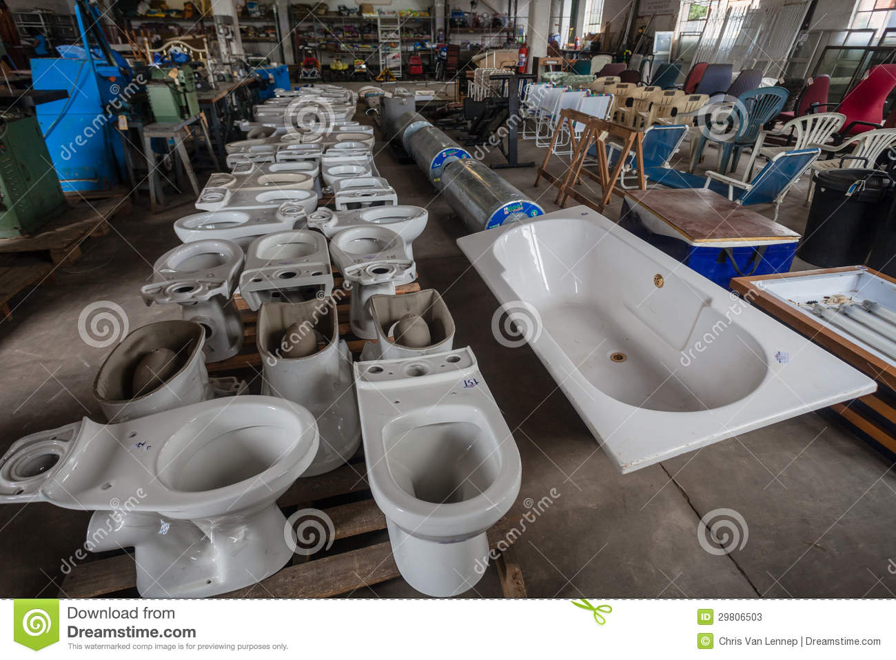 Auction Warehouse Domestic Appliances Editorial Stock Photo Image