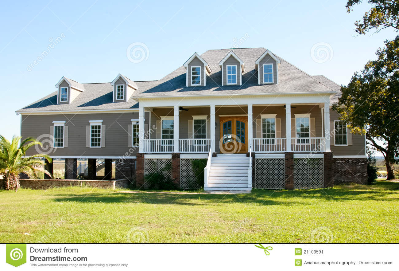 Large Waterfront Home Stock Image Image 21109591